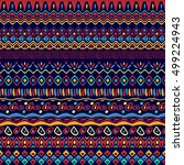 vector seamless tribal style... | Shutterstock .eps vector #499224943