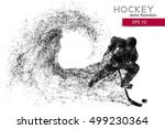silhouette of a hockey player.... | Shutterstock .eps vector #499230364