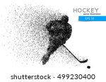 silhouette of a hockey player.... | Shutterstock .eps vector #499230400