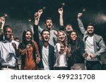 celebrating with fun. group of... | Shutterstock . vector #499231708