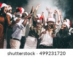 new year party. group of... | Shutterstock . vector #499231720
