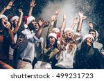 they love christmas. group of... | Shutterstock . vector #499231723