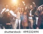 perfect night for party. group... | Shutterstock . vector #499232494