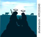 baby jesus  joseph and the... | Shutterstock .eps vector #499233340
