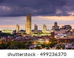 albany  new york  usa skyline. | Shutterstock . vector #499236370