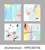 set of creative universal cards.... | Shutterstock .eps vector #499238746