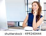 portrait of businesswoman... | Shutterstock . vector #499240444
