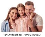 portrait of beautiful happy... | Shutterstock . vector #499240480