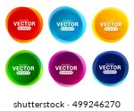 circular colored banners.... | Shutterstock .eps vector #499246270
