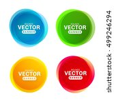 circular colored banners.... | Shutterstock .eps vector #499246294