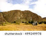 off road car and mountains | Shutterstock . vector #499249978