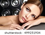 sensual glamour portrait of... | Shutterstock . vector #499251934