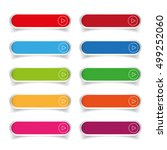 colorful long round buttons | Shutterstock .eps vector #499252060
