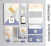 corporate identity template in... | Shutterstock .eps vector #499255960