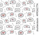 cute cartoon pink white black... | Shutterstock .eps vector #499261774