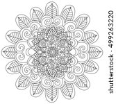mandala coloring book for... | Shutterstock .eps vector #499263220