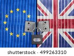eu and united kingdom flag on... | Shutterstock . vector #499263310