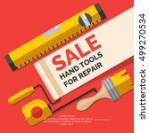 sale hand tools for home... | Shutterstock .eps vector #499270534