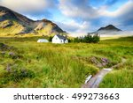 a picture postcard cottage at... | Shutterstock . vector #499273663