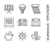 basic solar energy equipment ... | Shutterstock .eps vector #499278289