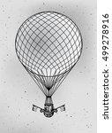 vintage vector drawing of hot... | Shutterstock .eps vector #499278916