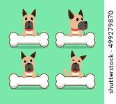cartoon character great dane... | Shutterstock .eps vector #499279870