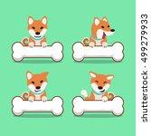 cartoon character shiba inu dog ... | Shutterstock .eps vector #499279933