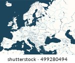 europe high detailed vector... | Shutterstock .eps vector #499280494
