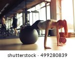 beautiful woman training... | Shutterstock . vector #499280839