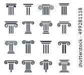 Ancient Columns Vector Icon Se...