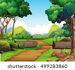 path into the woods | Shutterstock .eps vector #499283860