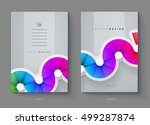 vector annual report  brochure  ... | Shutterstock .eps vector #499287874