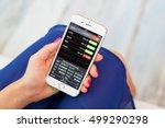 riga  latvia   september 8 ... | Shutterstock . vector #499290298
