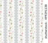 seamless floral pattern with... | Shutterstock .eps vector #499291138