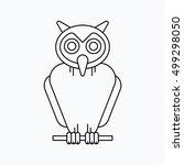 owl halloween illustration ... | Shutterstock .eps vector #499298050