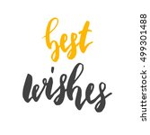 best wishes. holiday seasonal... | Shutterstock . vector #499301488