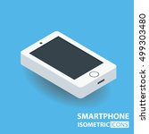 isometric icon. smart phone | Shutterstock .eps vector #499303480