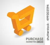 isometric icon. purchase