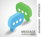 isometric icon. message