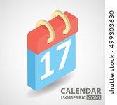 isometric icon. calendar