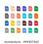 simple flat style file type  ... | Shutterstock .eps vector #499307563