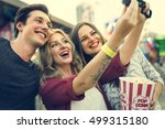 Small photo of Amusement Leisure Funny Happiness Enjoyment Concept