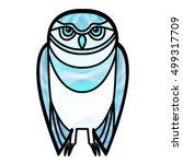 Blue Burrowing Owl Drawn In...