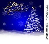 christmas card lettering vector ... | Shutterstock .eps vector #499319668