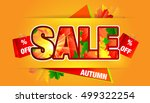 autumn sale background. | Shutterstock .eps vector #499322254