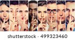 group of people men women with... | Shutterstock . vector #499323460