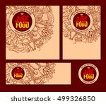 fast food templates set in hand ... | Shutterstock .eps vector #499326850