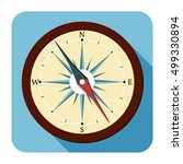 compasses flat icons. vector...   Shutterstock .eps vector #499330894