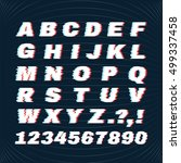 glitch font with distortion... | Shutterstock .eps vector #499337458