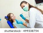 beautiful woman patient having... | Shutterstock . vector #499338754